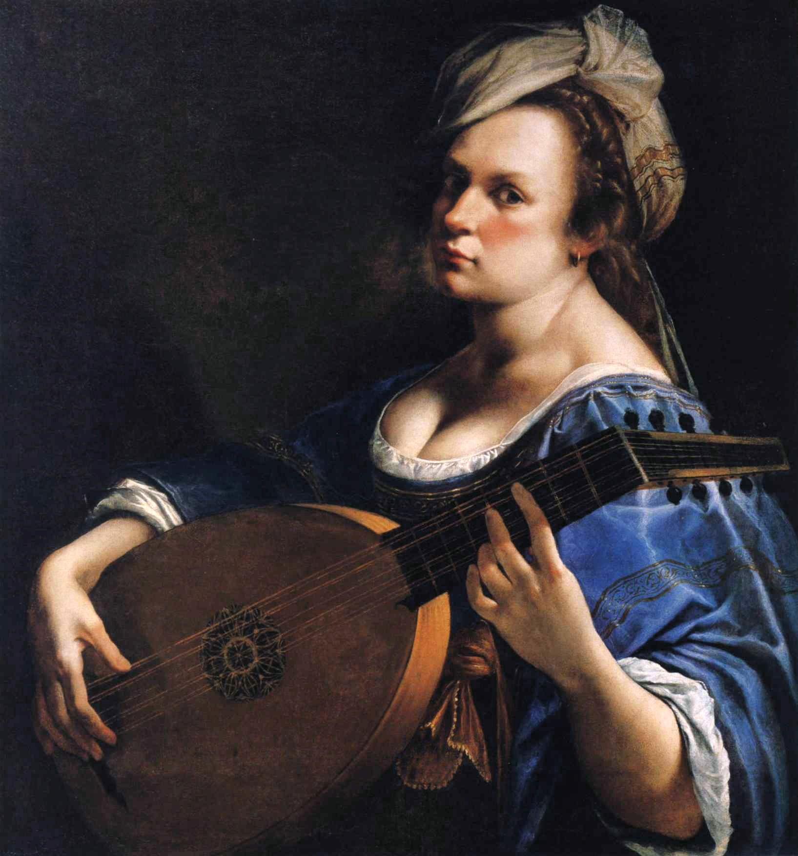 Артемизия Джентилески. Автопортрет с лютней (1615-1617)