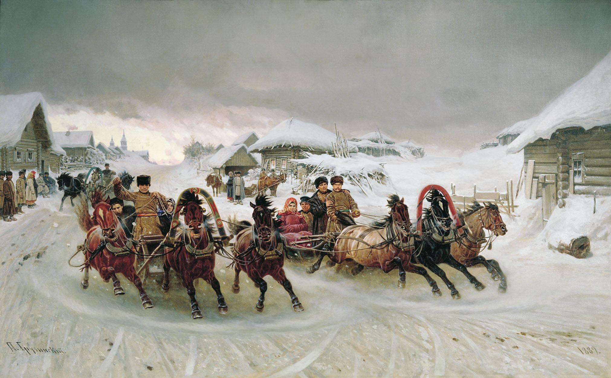 """Петр Николаевич Грузинский """"Масленица"""" 1889 г."""