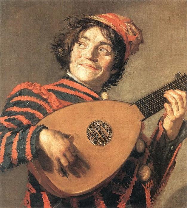 Франц Халс. Шут, играющий на лютне (1623)