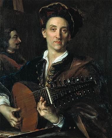 Ян Купецкий. Лютнист и художник Давид Хойер (1711)