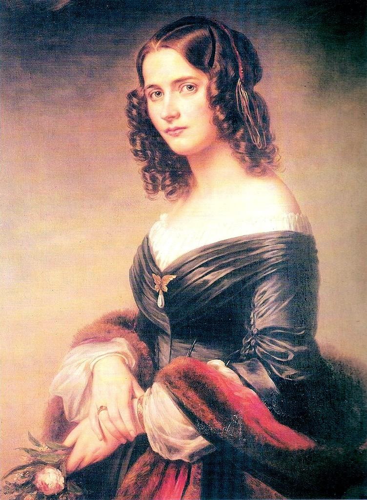 Сесиль Жанрено, жена Феликса Мендельсона-Бартольди (портрет кисти Эдуарда Магнуса, 1846 г.)