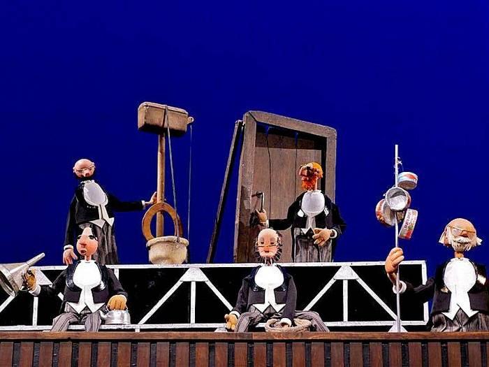 Сцена из спектакля С. В. Образцова «Необыкновенный концерт»