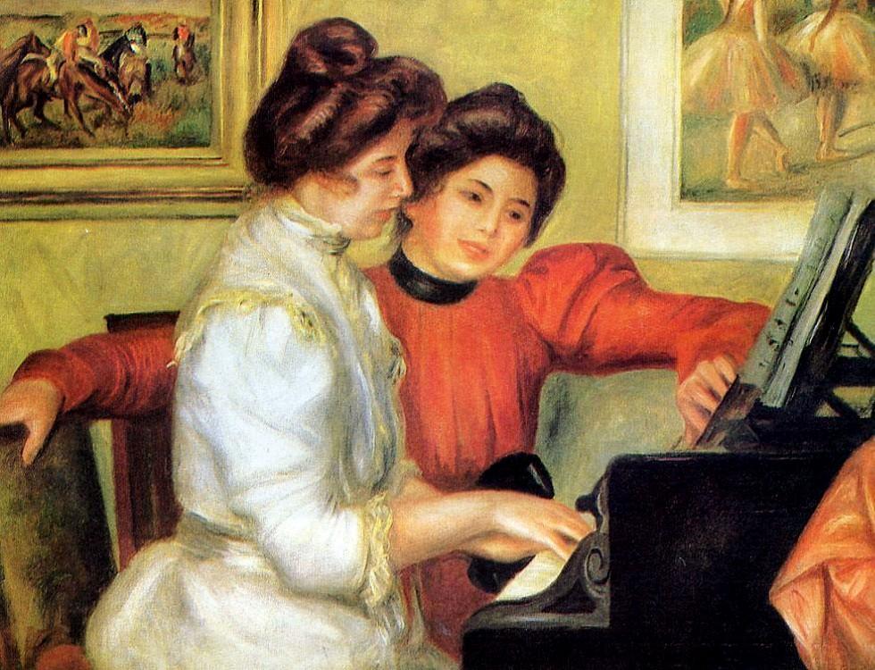 Пьер Огюст Ренуар. Ивонна и Кристина за фортепиано (1897-1898 гг.)