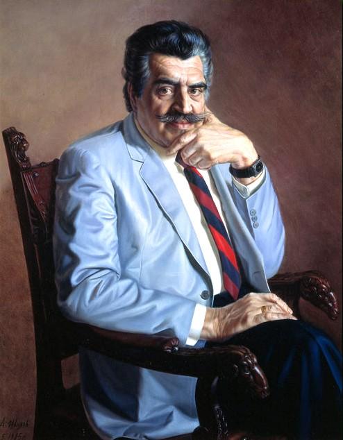 Ян Абрамович Френкель (1920-1989), российский композитор (портрет кисти Александра Шилова, 1985 г.)