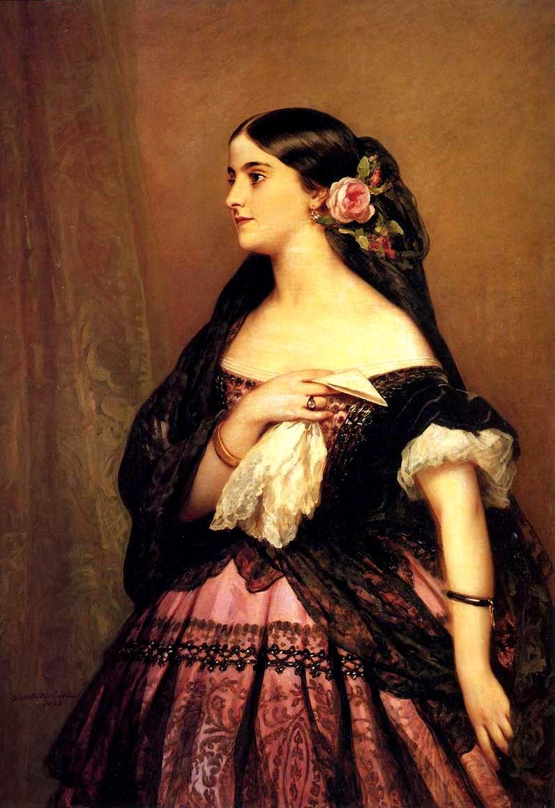 Аделина Патти, портрет кисти Франца Ксавье Винтерхальтера (1863)