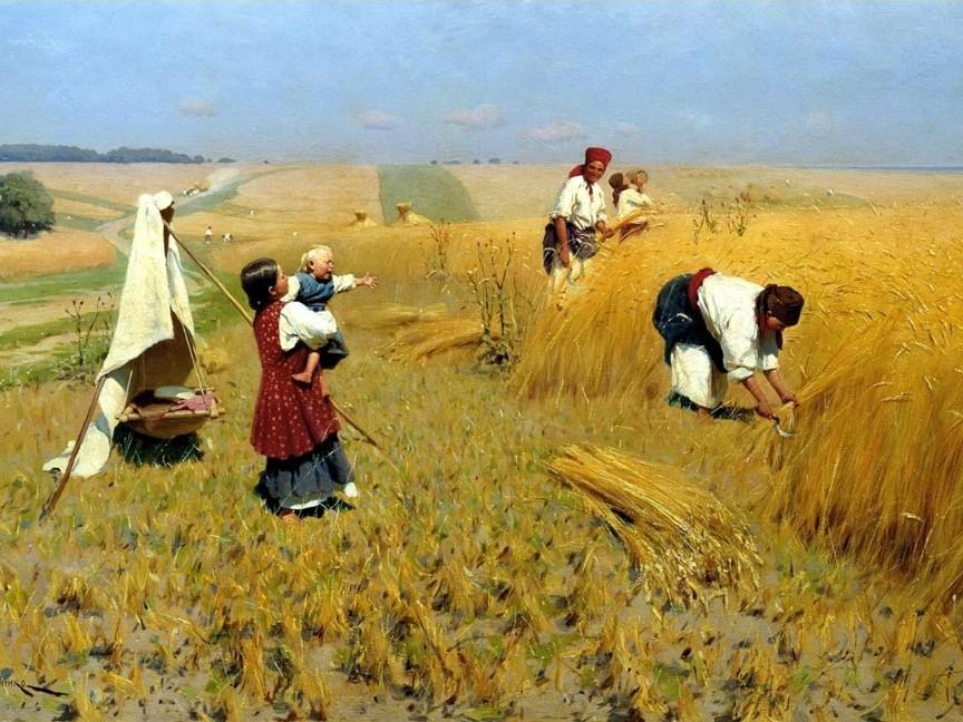 Картинки по запросу времена года картины жатва
