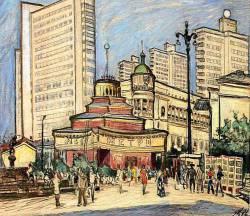 Евгений Куманьков. Арбатская площадь (1971 г.)