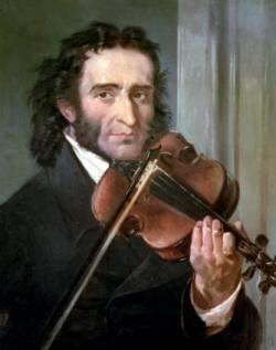 Никколо Паганини - итальянский скрипач и композитор (портрет работы итальянской художницы Andrea Cefaly)