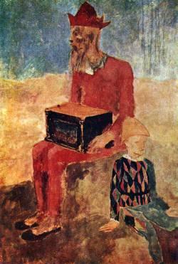 Пабло Пикассо. Шарманщик (1905 г.)