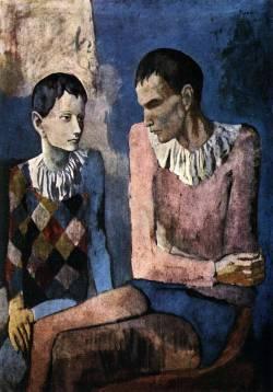 Пабло Пикассо. Старый и молодой арлекины (1905 г.)