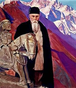 Рерих Николай Константинович, русский художник (портрет кисти Николая Рериха, 1937 г.)