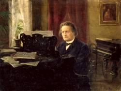 Антон Рубинштейн за роялем (портрет кисти Михаила Ярового)