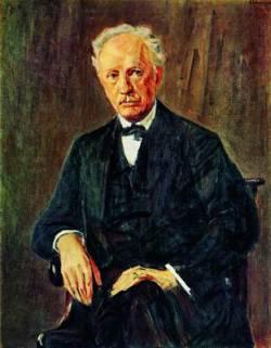 Рихард Штраус (1864 - 1949), немецкий композитор (портрет кисти Макса Либермана, 1918 г.)