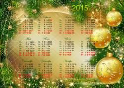 Новогодний календарь на 2015 год